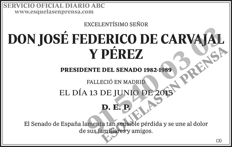 José Federico de Carvajal y Pérez